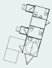 floorplan for restroom trailer