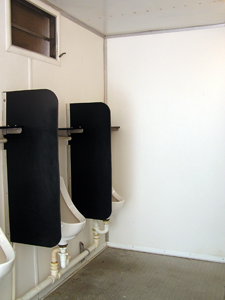 urinals with dividers
