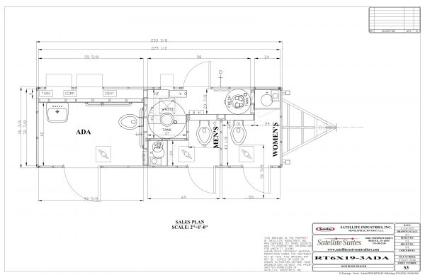 Floor Plan Sat ADA Portable Restroom Trailer